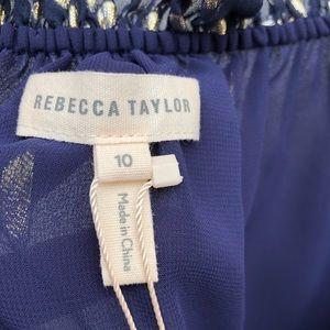 Rebecca Taylor Tops - NWT Rebecca Taylor metallic clip cami blueberry 10